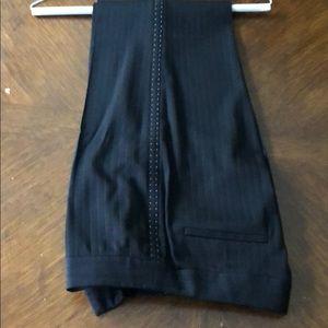 ELIE TAHARI black slack pants, side gray stiches